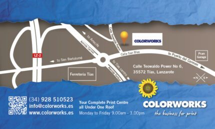 Colorworks Lanzarote Map